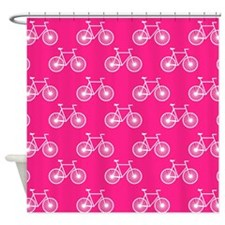 White Bicycle, Cycling Pattern; Neon Pink Shower C
