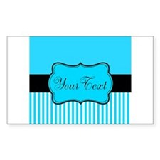 Personalizable Teal White Black Decal
