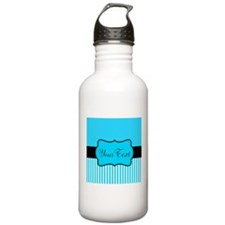 Personalizable Teal White Black Water Bottle