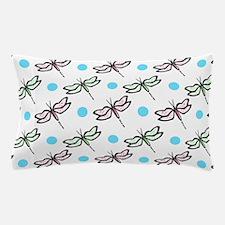 Cute Dragonfly; Pink, Green, Blue, White Polka Do