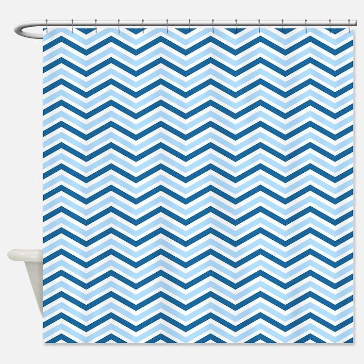 chevron royal blue shower curtains chevron royal blue