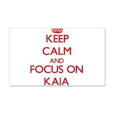 Keep Calm and focus on Kaia Wall Decal