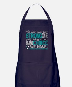 Cervical Cancer HowStrongWeAre Apron (dark)
