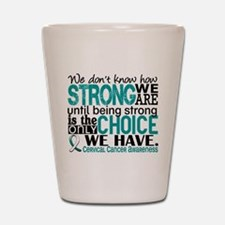 Cervical Cancer HowStrongWeAre Shot Glass