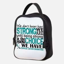 Cervical Cancer HowStrongWeAre Neoprene Lunch Bag