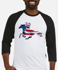 American horse cowgirl Baseball Jersey