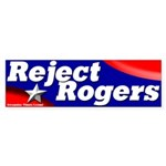 Reject Mike Rogers Bumper Sticker