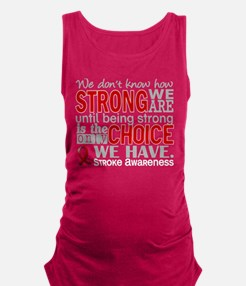 Stroke How Strong We Are Maternity Tank Top