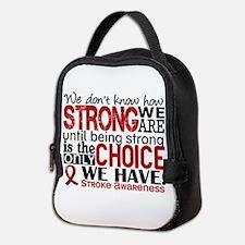 Stroke How Strong We Are Neoprene Lunch Bag