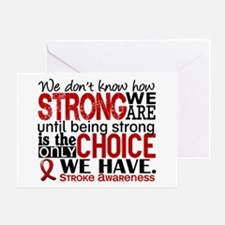 Stroke How Strong We Are Greeting Card