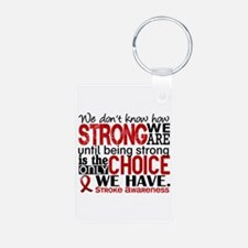 Stroke How Strong We Are Aluminum Photo Keychain