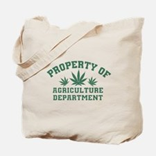 Property OF Agriculture Department Tote Bag