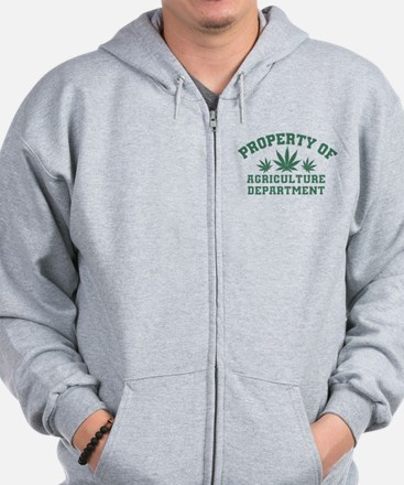 Property OF Agriculture Department Zip Hoodie