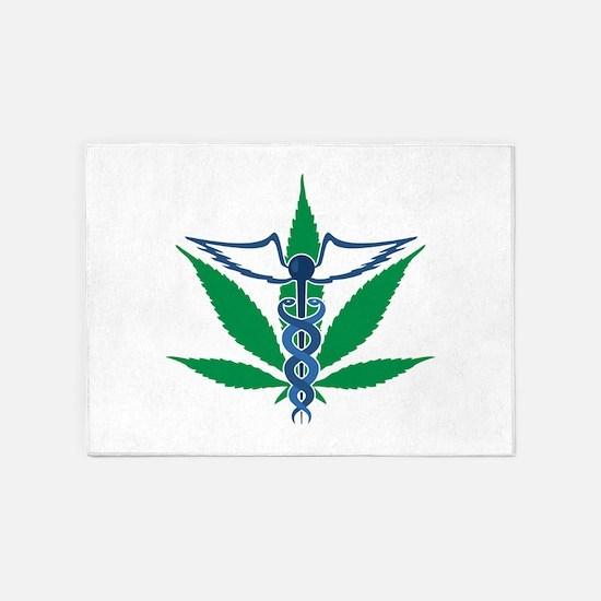 Medical Marijuana 5'x7'Area Rug