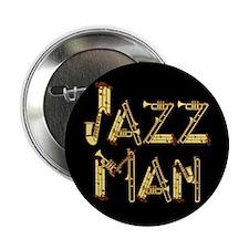 Jazz man saxophone sax Button
