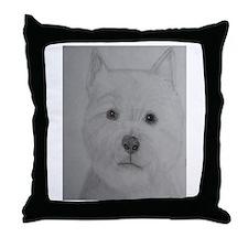 Cute West highland Throw Pillow