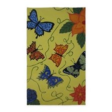 Butterflies 3'x5' Area Rug