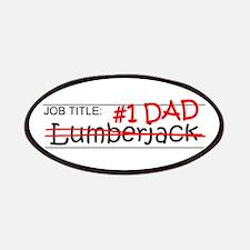 Job Dad Lumberjack Patches