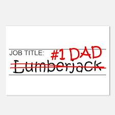 Job Dad Lumberjack Postcards (Package of 8)
