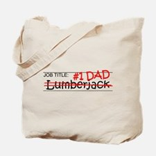 Job Dad Lumberjack Tote Bag