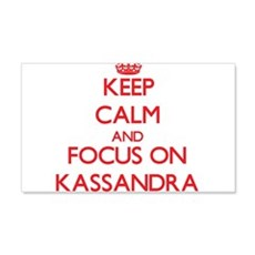 Keep Calm and focus on Kassandra Wall Decal