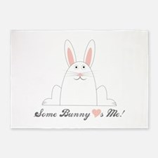 Some Bunny Loves Me! 5'x7'Area Rug