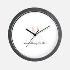 Some Bunny Loves Me! Wall Clock