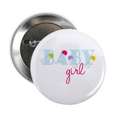 "Baby Girl 2.25"" Button"