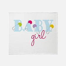 Baby Girl Throw Blanket