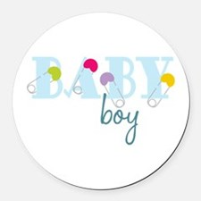 Baby Boy Round Car Magnet