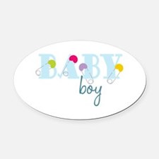 Baby Boy Oval Car Magnet