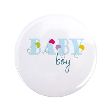 """Baby Boy 3.5"""" Button (100 pack)"""