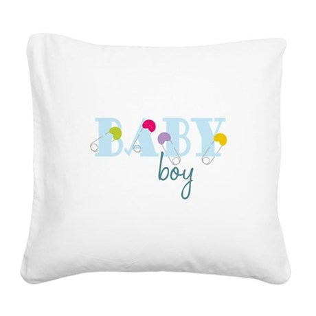 Baby Boy Square Canvas Pillow