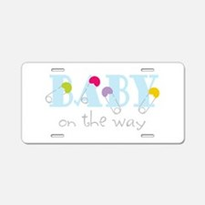 Baby On The Way Aluminum License Plate
