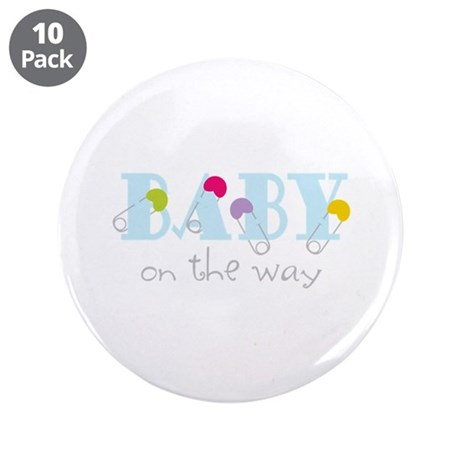 """Baby On The Way 3.5"""" Button (10 pack)"""