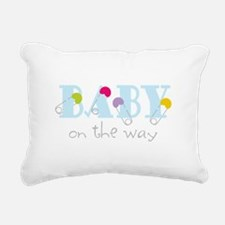Baby On The Way Rectangular Canvas Pillow