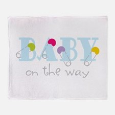 Baby On The Way Throw Blanket