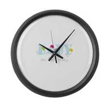 Baby On The Way Large Wall Clock