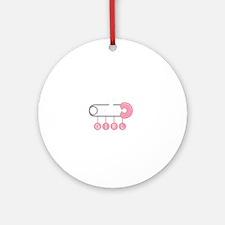 Girl Diaper Pin Ornament (Round)