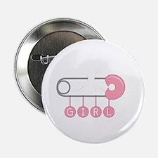 "Girl Diaper Pin 2.25"" Button"