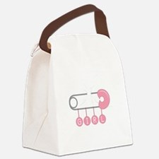 Girl Diaper Pin Canvas Lunch Bag