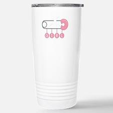 Girl Diaper Pin Travel Mug