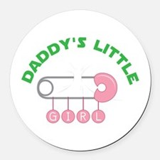 Daddys Little Girl Round Car Magnet