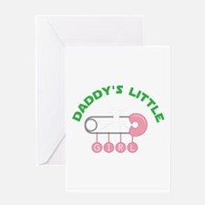 Daddys Little Girl Greeting Cards