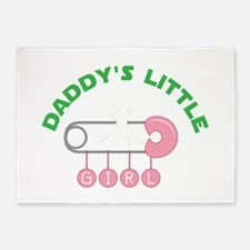 Daddys Little Girl 5'x7'Area Rug
