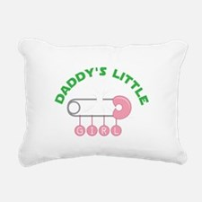 Daddys Little Girl Rectangular Canvas Pillow