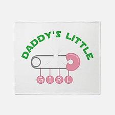 Daddys Little Girl Throw Blanket