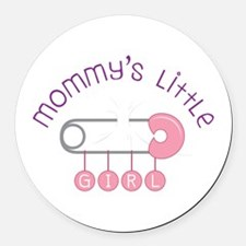 Mommys Little Girl Round Car Magnet