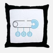 Boy Diaper Pin Throw Pillow