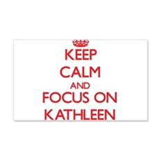 Keep Calm and focus on Kathleen Wall Decal
